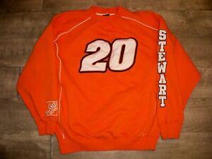 Chase Authentics NASCAR Tony Stewart Racing Race Car Sweatshirt Pullover Men's L