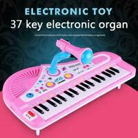 37 Key Kids Electronic Keyboard Piano Organ Musical w/Microphone AU Toy K6D0