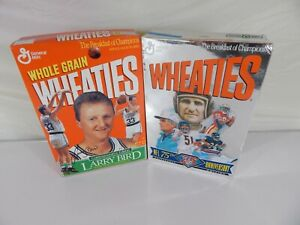 Vintage Wheaties NFL 75th Anniversary Edition and Larry Bird Tribute Edition