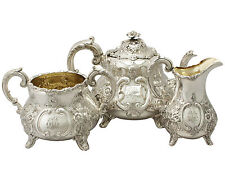 Sterling Silver Three Piece Tea Set - Antique Victorian