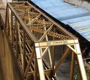 Genuine handmade super detailed G-scale Pin Connected Truss Brass Bridge NEW