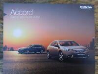 Honda Accord Saloon & Tourer Brochure 2012 - Type S, EX, ES-GT, ES