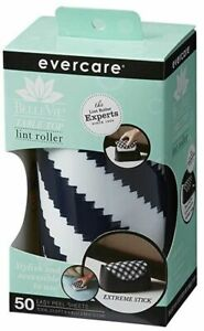 Evercare Bellevie Extreme Tabletop Lint Roller With 50 Layer Sheets, Navy White