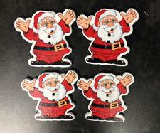 25 Botón De Navidad Santa Claus de Madera elaboración de Tarjetas artesanal adornos de costura
