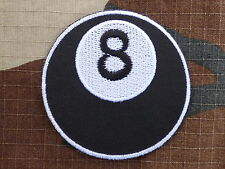 ECUSSON PATCH THERMOCOLLANT aufnaher toppa EIGHT ball boule 8 rockabilly biker