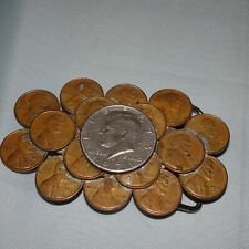 Vintage U.S. 1970s PENNIES & 1971 HALF DOLLAR BELT BUCKLE COLLAGE