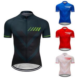 Team Men's Bike Cool Cycling Jersey Bike Racing Short Shirt Tops Pockets Outfits