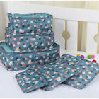 6PCS Travel Storage Bags Waterproof Clothes Packing Luggage Organizer Pouch Cube