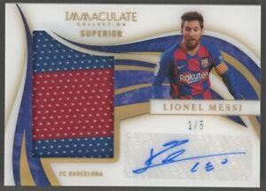 2020 Immaculate Acetate Superior Soccer Lionel Messi GU Patch Signed AUTO 1/5