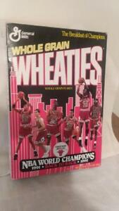 Chicago Bulls Back To Back Championship Wheaties Box Unopened