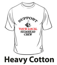SUPPORT YOUR LOCAL SKINHEAD CREW T-SHIRT SKIN/WAY OF LIFE/Oi!Oi!Oi!