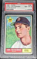 Carl Yastrzemski 1961 Topps 2nd Year Star Rookie Graded PSA 8 NM-MT # 287