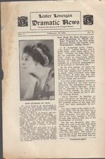 Lester Lonergan Dramatic News for Hathaway's Theatre Feb. 26, 1912 Scarce Item