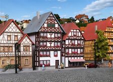 36404 Kibri Z Gauge Half-timbered houses Fritzlar, 2 pieces L 7,5xW 6,5xH 8,5 cm