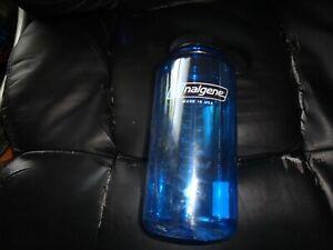 NALGERE  WIDE MOUTH 32 OZ BPA WATER BOTTLE SLATE BLUE W/BLACK LID