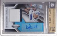 DAK PRESCOTT RC 2016 CERTIFIED ROOKIE PATCH AUTO #003/299 BGS 9.5 / 10 AUTO