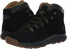 New Timberland World Hiker Mid Boot Black Suede Men's SIZE 9 Hiking Mid Low Hi