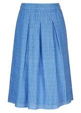 Cornflower BLUE Lined elastic waist A-line lined 100 % COTTON Schiffly SKIRT 20