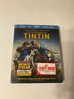 The Adventures of Tintin w/ Slipcover (Bluray/DVD, 2011) [BUY 2 GET 1]