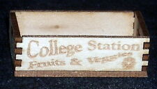 Dollhouse Miniature College Station Texas Produce Crate 1:12 Market Store Grocer