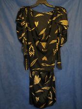 TARQUIN EBKER Neiman Marcus VTG 80s SILK DRESS Poofy Padded Shoulder AVANT GARDE
