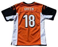 AJ Green Cincinnati Bengals #18 Orange Jersey NFL Team Size Youth Large (12-14)