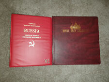 (2) ALBUM Soviet Union RUSSIA Stamp Collection 1967 Thru 1991 MYSTIC STAMP