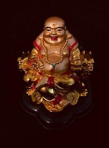 Laughing Buddha Polyresin Statue