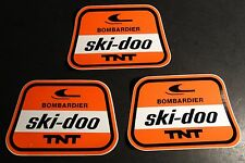 (3) VINTAGE BOMBARDIER SKI-DOO T'NT SNOWMOBILE DECALS    (819)