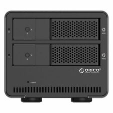 "ORICO Tool Free 2 Bay USB 3.0 SATA 3.5"" HDD Hard Drive Enclosure Case for Laptop"