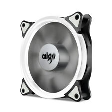 Aigo  White Halo LED 120mm PC Computer Case Cooling Neon Quite Clear Fan Mod
