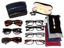 CLEARANCE LOT 5 PACK READING GLASSES 4 Soft Cases 1 Hard Case MEN +3.00 MRS54752