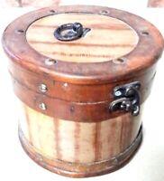 Box Antique Wooden Wood Vintage Jewelry Hand Trinket X Inlaid 1 Lid Storage Old