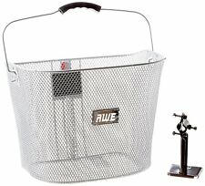 AWE® Bicycle Quick Release Wire Front Basket Silver