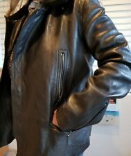 COACH Men's Black Leather Moto Jacket Size M New with tags