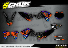 KTM SXf Dekor Grafik Set 250 450 530 2007 2008 2009 2010 '07 -'10 SCRUB MX