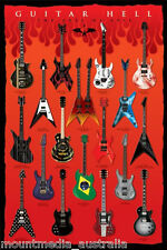 (LAMINATED) GUITAR HELL AXES OF EVIL POSTER (61x91cm)  PICTURE PRINT NEW ART