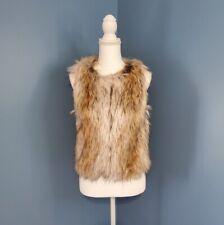 BB DAKOTA Bedrock City Faux Fur Vest XS NWT