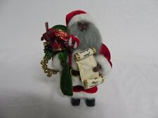 African American Santa Claus 9'' Tall Delivering Toys To Good Girls & Boys