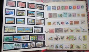 Postage stamp job lot of world & commonwealth in large ring binder