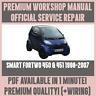 WORKSHOP MANUAL SERVICE & REPAIR GUIDE for SMART FORTWO 450 & 451 1998-2007