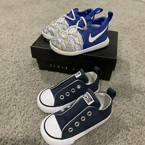 Nike Zoom KD 9 (TD) & Chuck Taylor Toddlers Boys Size 5C Basketball Shoes