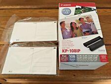 Canon KP-108IP Cartucho De Tinta Papel De Impresora Fotográfica Tarjeta Post Paquete Combinado Nuevo En Caja + Extra