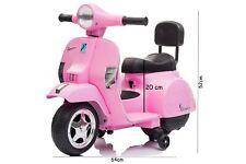 Mini Vespa per bambini Piaggio rosa moto elettrica px150 6V poggiaschiena LT913