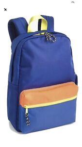 Crewcuts Boys J. Crew Bright Blue Colorblock Backpack NEW NWT