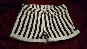 VIP Jeans Size 13/14 Striped Shorty Shorts