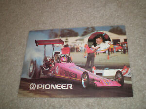 Shirley Muldowney NHRA Top Fuel Dragster 1982 PIONEER ELECTRONICS POST  CARD
