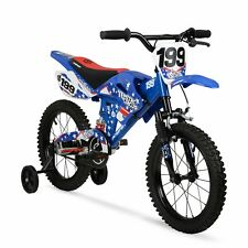 "Kids Motorcycle Pedal Bicycle Motobike Childrens Bike Boys Motocross Style 16"""