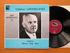 HQM 1225 Walter Gieseking Music By Debussy Grieg Ravel NM/EX HMV Mono