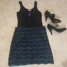 Annabella Sequins & Lace Skirt Size M